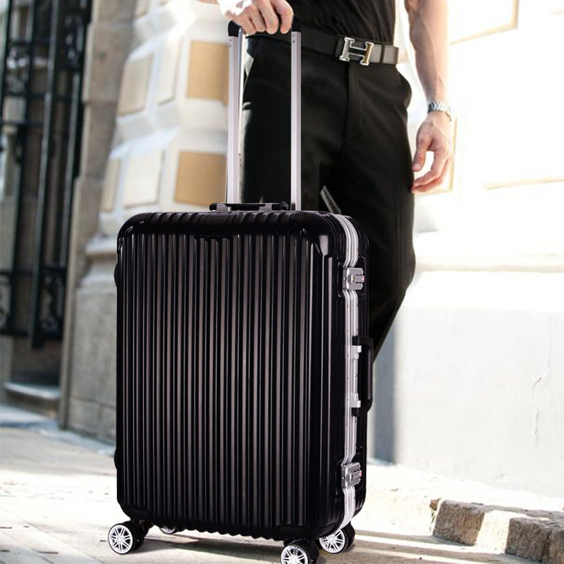 Business travel trolley Aluminum frame suitcase Spinner boarding ...