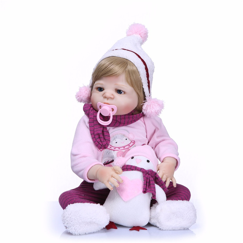 NPK New 55cm Full Body Silicone Reborn Babies Doll Vinyl Fashion Dolls For Princess Children Birthday Gift Bebe Reborn Realista npk 23 reborn babies dolls full body silicone reborn baby doll for children birthday gift with pacifier bebe alive reborn bonec