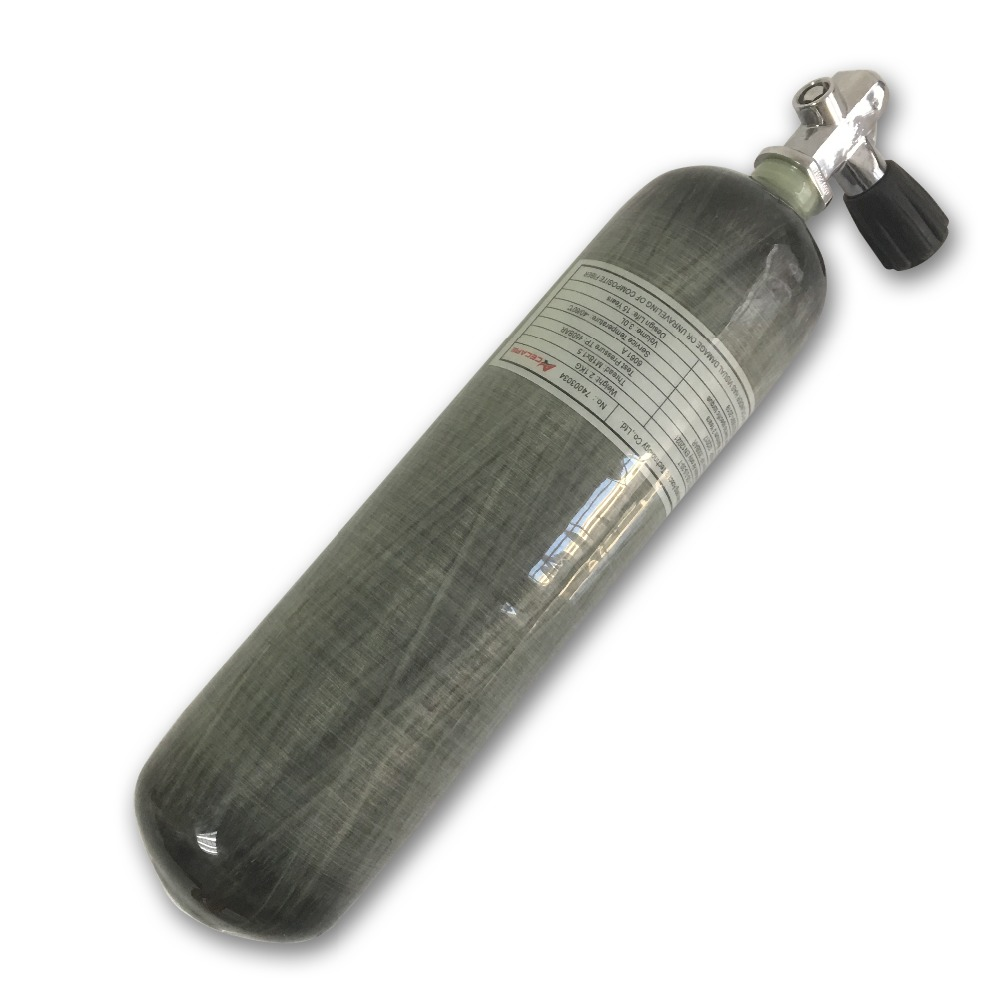 AC10351 3L CE Carbon Fiber Air Tank  M18*1.5 30Mpa 4500psi Pcp Paintball HPA Cylinder Scuba Diving Tank With Diving Valve