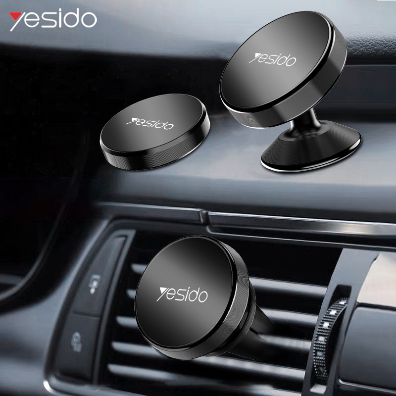 Yesido Magnetic Car Phone Holder For Car Air Vent Mount GPS Strong Magnet Metal Car Mount Holder Stand For IPhone Samsung Xiaomi