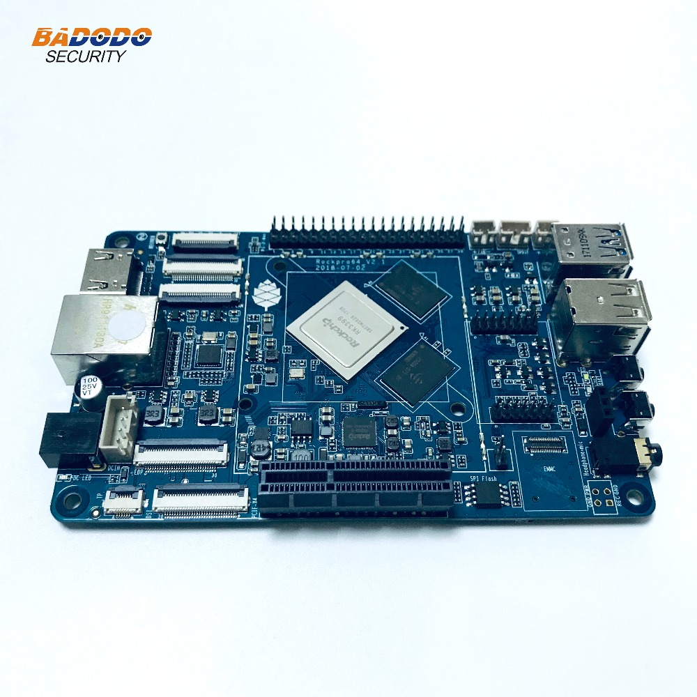 US $125 99 16% OFF|ROCKPro64 PINE64 64 bit Quad Core+4GB LPDDR4 + eMMC slot  +android 7 1 Linux Debian Operating System development board demo board-in