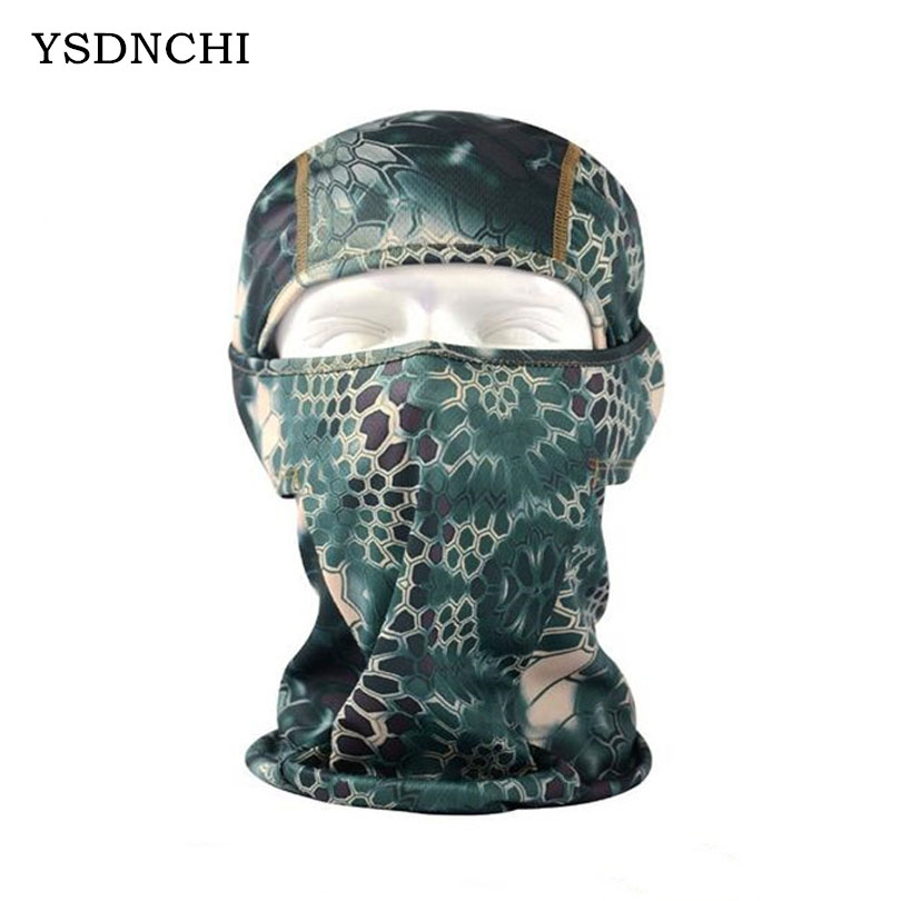 e49f325c4fe YSDNCHI High Quality Outdoor Windbreak Beanies Balaclava Caps Python  Camouflage Riding Mask Waterproof Riding Antidust-in Skullies   Beanies  from Apparel ...