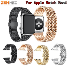 цена на ZENHEO stainless steel watch strap for apple watch band 42mm 38mm bracelet wirst strap for iwatch 1/2/3 metal watch band
