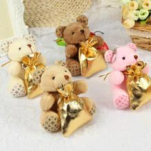 Upscale Gold Backpack Little Bear Wedding Decorations Candy Chocolate Bags For
