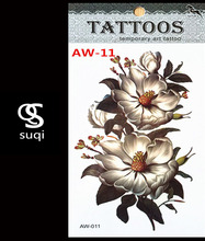 3D Temporary Tattoo Tattoo Flash Flash Light Rose Color Tattoo On The Body Of The Female Body Art Tattoo Stickers AW-11