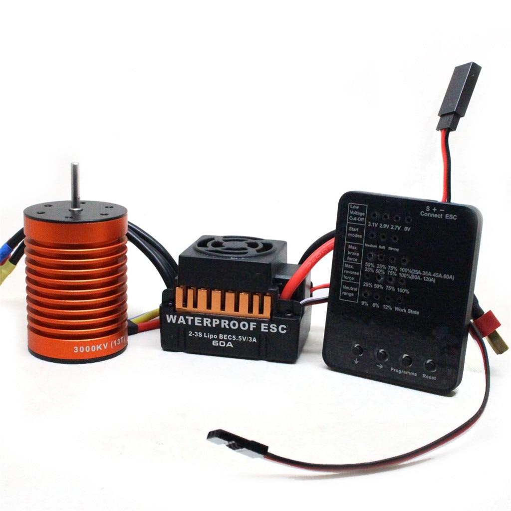 1x scheda di programmazione LED per RC Car ESC Brushless Electronic Speed