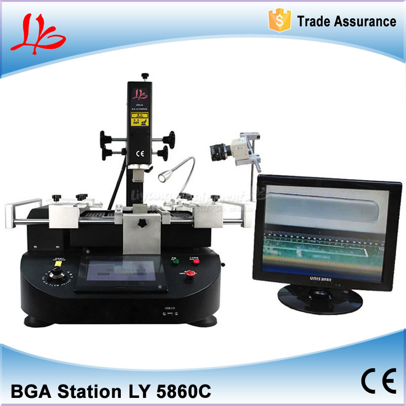 3 Heating Zones Hot Air Soldering Station 4500W LY R5860C Reballing Station CCD Camera System BGA Welding Machine bga rework machine ly 5830c hot air 3 zones for laptop motherboard chip repair 4500w zm r5830