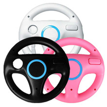 3PCS Games Remote Control For Nintendo Wii Remote Wheel Black&White&Pink Steering Mario Kart Racing Game Free Shipping Wholesale
