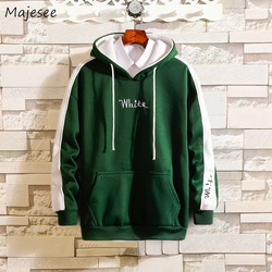 Hoodies Men Hooded Hole Letter Printed Loose Simple All-match Korean Style Harajuku Sweatshirts Mens Trendy Soft Clothing Chic 4
