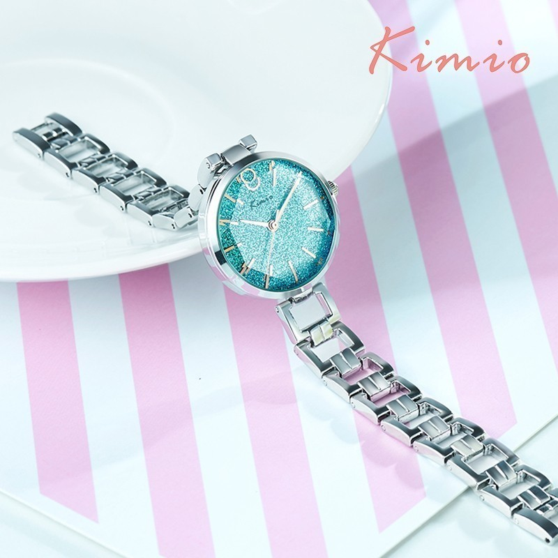 KIMIO Vintage Black Watch Women Fashion Quartz Women Clock Luxury - Zegarki damskie - Zdjęcie 3