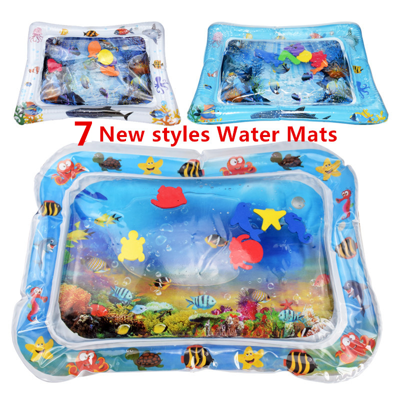 Baby Inflatable Water Mat Filled Cushion Kids Rug Toys For Children Baby Play Mats Toy Water Fun For Summer Gift