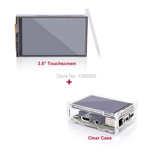 Новое Поступление Горячей Продажи 3.5 Дюймов TFT LCD Сенсорный Экран с Стилус для Raspberry Pi 2 Модель B Доска + Акриловые случае