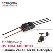 Hobbywing Platino 130A HV OPTO V4 14 S Brushless ESC Controlador Electrónico de Velocidad para RC Helicóptero Avión de ala Fija