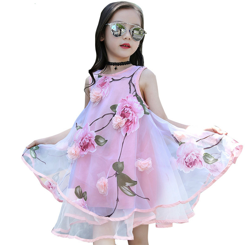 New <font><b>Girls</b></font> <font><b>summer</b></font> <font><b>dress</b></font> flower party long kids <font><b>dresses</b></font> <font><b>for</b></font> <font><b>girls</b></font> Teen Children princess <font><b>dress</b></font> <font><b>girl</b></font> Clothing 4 10 to <font><b>12</b></font> <font><b>year</b></font> <font><b>old</b></font> image