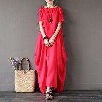 MIỄN PHÍ VẬN CHUYỂN gió Quốc Gia zen robe các bông và vải lanh lớn bãi màu Tinh Khiết với tay áo ngắn váy TRONG KHO