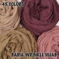 10 pçs/lote mulheres maxi sólidos hijabs cachecol oversize islam xale wraps cabeça desgastado rugas algodão macio longo muçulmano hijab simples