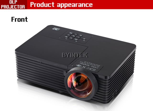 Best Short throw lens Daylight USB HDMI Home Theater XGA 1080p full HD 3D DLP Projector Proyector beamer for church hall hotel