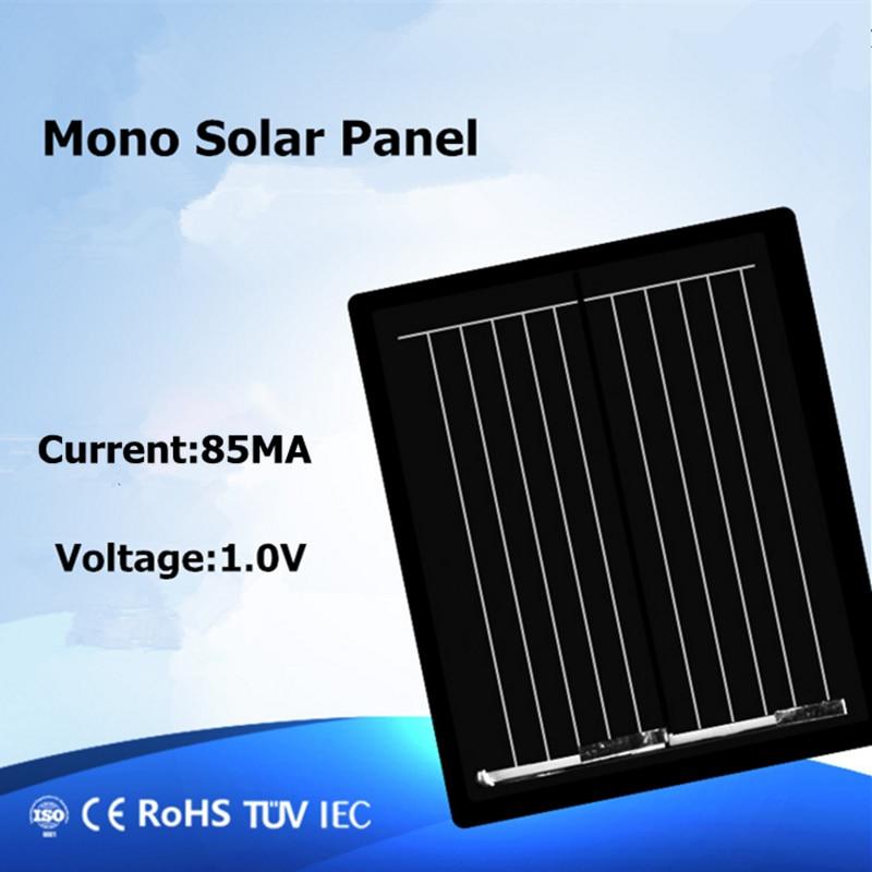 لوحة شمسية أحادية صغيرة واحدة كريستال 1 فولت 80MA النظام الشمسي لتقوم بها بنفسك لشحن بطارية شحن الهاتف