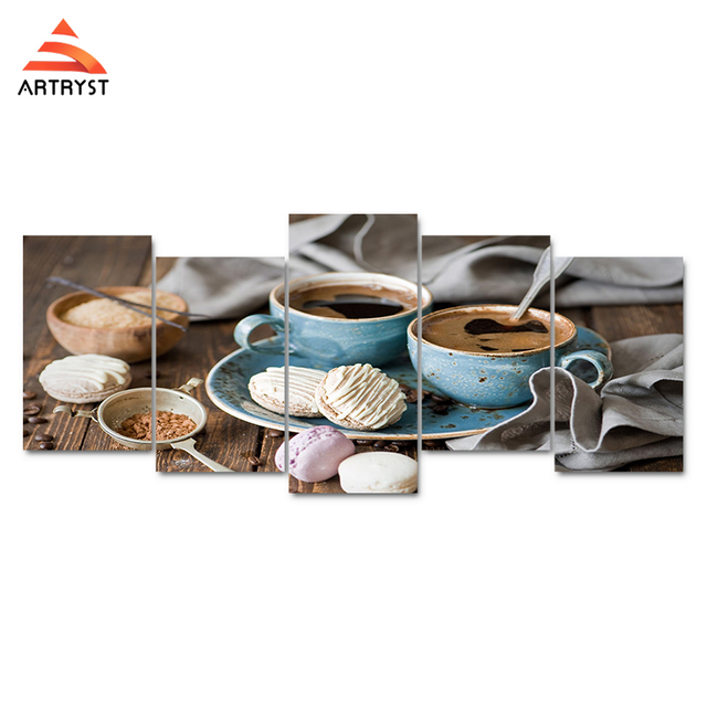 Artryst Coffee Wall Canvas Pictures Stretch And Framed For kitchen ...