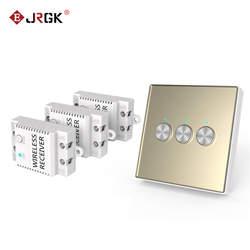 JRGK 433 МГц настенный сенсорный выключатель света 2 gang Беспроводной дистанционного Управление сенсорный выключатель с украшением в виде