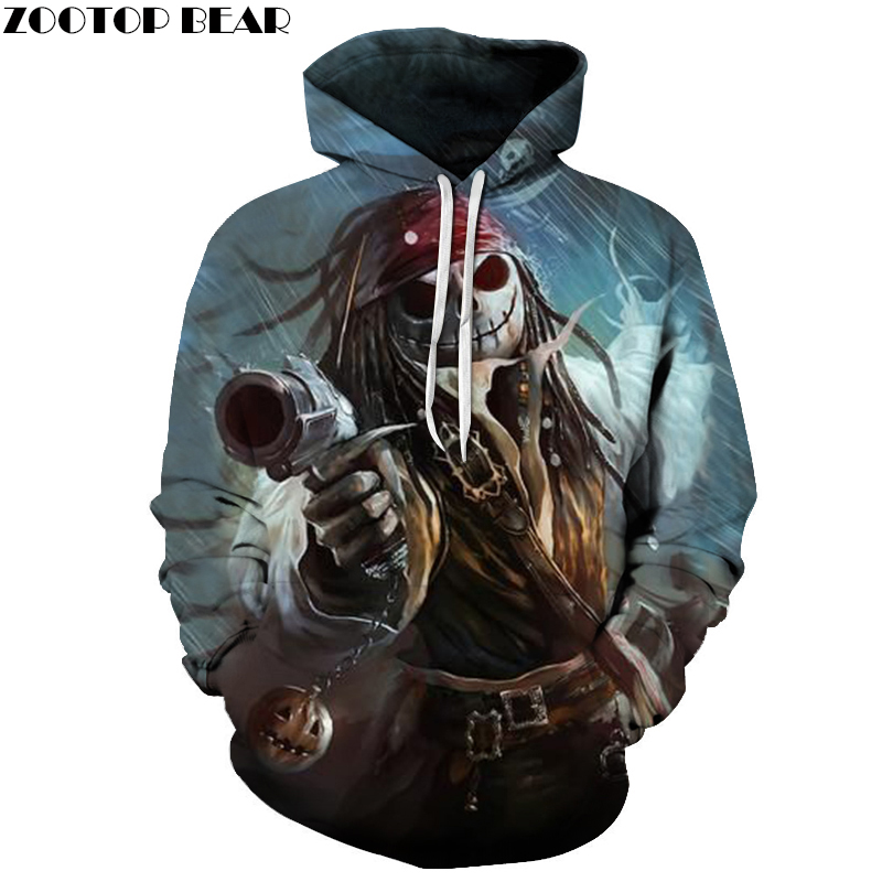 jack skellington 3D Hoodies Sweatshirt Men Women Hoodies Fashion Tracksuit Hooded Pullover Skull Printed Hoodie Drop Ship Brand