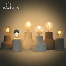 Lámpara Edison de mesa de cemento Industrial Vintage para Loft americano, lámpara de decoración de escritorio, lámpara de mesita de noche para cafetería o Bar