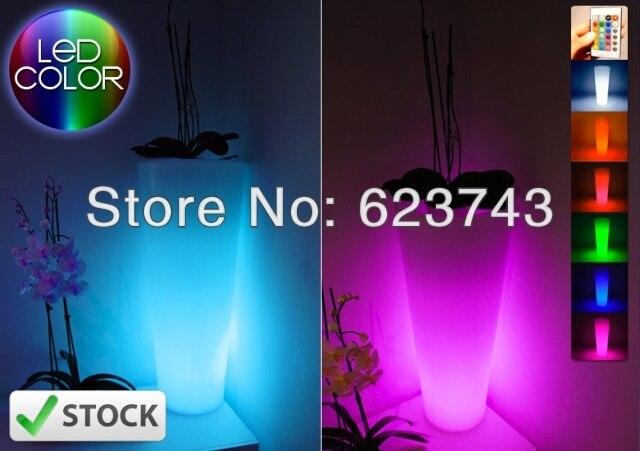 light UP vase LED rechargeable,Glowing LED flower pot! Remote color changing RGB led flower pot ,LED beer barrel