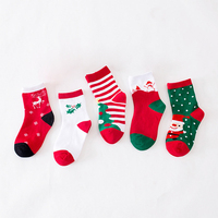 Daivsxicai New Autumn Winter New Year Santa Claus Christmas Snow Elk Gift Towel Socks Long Kid Sock Snowman Cotton Children Sock