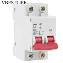 6A DZ47-63 Miniature Circuit Breaker AC 400V 6000A disjuntor 50Hz Voltage Relay Breaking Capacity dz47 63h miniature circuit breakers for household and distribution box and mechanical equipment motor overloa protection