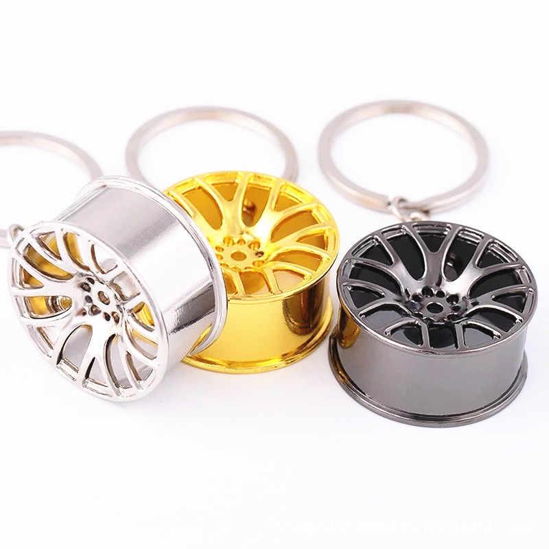 Roda de carro Pendurado Auto Espelho Decoração anel chaveiro keychian chave chian para o Piloto da Honda Insight HR-V CR-V Odyssey Fit Jazz