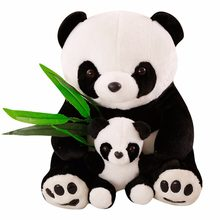 New Plush Panda Baby Toys Cute Stuffed Animal Doll Mother And Son Toy Gift for Children Friends Girls Home Decor Christmas Gift(China)