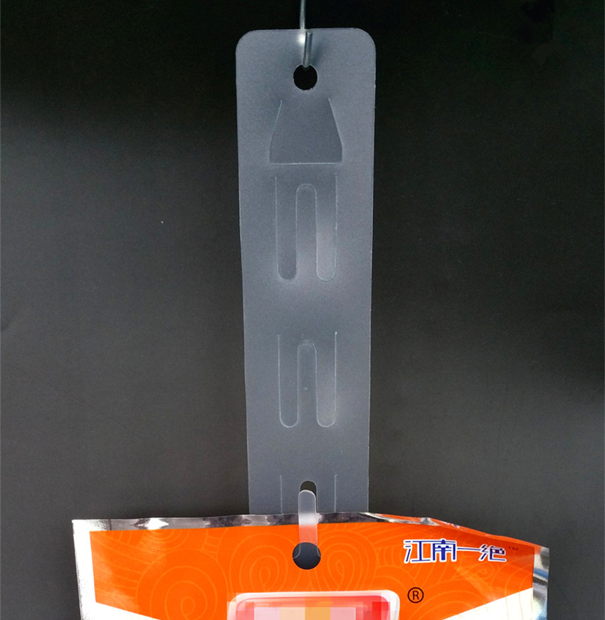 L 600mm Plastic Clear PP Retail Hanging Merchandising Products Clip Strips 12pcs Products Display In Supermarket