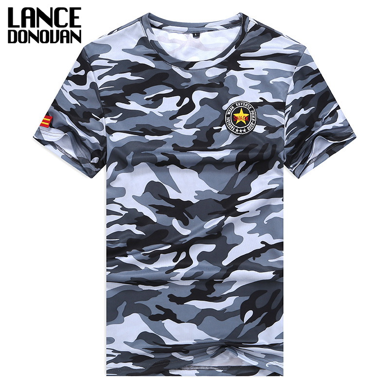 Both Sides Military Camouflage T-shirt Men 2019 M-5XL 6XL 7XL 8XL Tshirt Summer Hot Sale Short Sleeves T Shirt Men Tops Tees