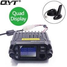 QYT KT-8900D Mini Walkie Talkie KT 8900 Quad Display Opgraderet af KT8900D 25W Dual Band UHF / VHF Car Mobil Radio til Rejser