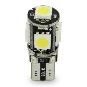Image 4 - Safego 10pcs LED W5W T10 194 168 Canbus 5050 자동차 전구 5 SMD 오류 무료 웨지 전구 인테리어 램프 오토바이 화이트 6000K
