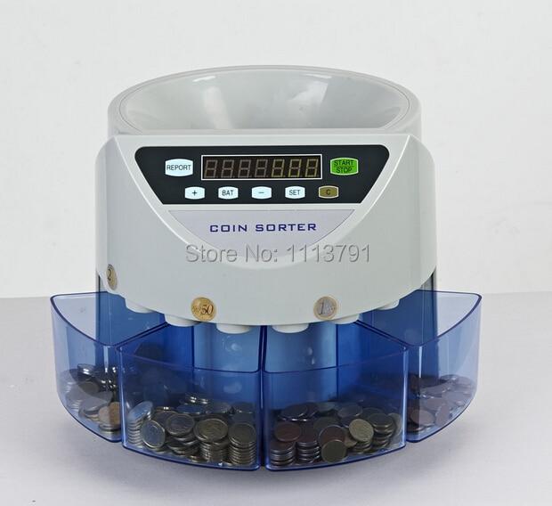 Электронный сортировщик монет SE-900 машина для подсчета монет для большинства стран