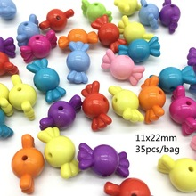 Meideheng cute Candy bowknot beads For Jewelry Making Children's bracelet accessories DIY Craft Needlework Accessories 35pcs/bag