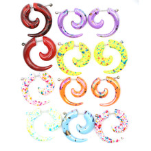 12Pcs Acrylic Spiral Ear Plug Stretching Tapers Body Jewelry Wholesale Fake Expander Tunnel Set Kit