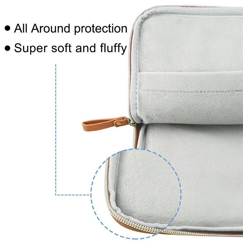 Image 3 - MOSISO PU Leather Laptop Sleeve for MacBook Air 13 inch Water resistant Notebook Case for MacBook Pro 13 Retina 13 Laptop Bag Ca-in Laptop Bags & Cases from Computer & Office