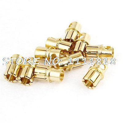 10 Pcs RC Model Li-Po Battery Male Banana Bullet Connector Plug 8mm areyourshop hot sale 50 pcs musical audio speaker cable wire 4mm gold plated banana plug connector