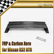 Car-styling For Nissan Skyline R32 GTR Carbon Fiber RB Style Rear Spoiler Trim Glossy Fibre Boot Lid Trunk Wing With Accessories стоимость