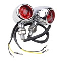 GOOFIT Universal Motorcycle Red Cover Chrome LED Indicator Turn Signal light Lamp for Scooter ATV Bike J065-829