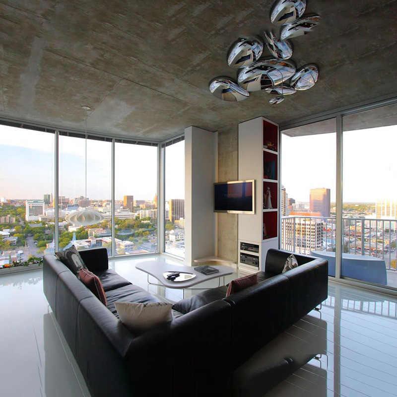 Современный Хромированный Светодиодный потолочный светильник с покрытием из сплава, роскошный металлический потолочный светильник для фойе, спальни, гостиной