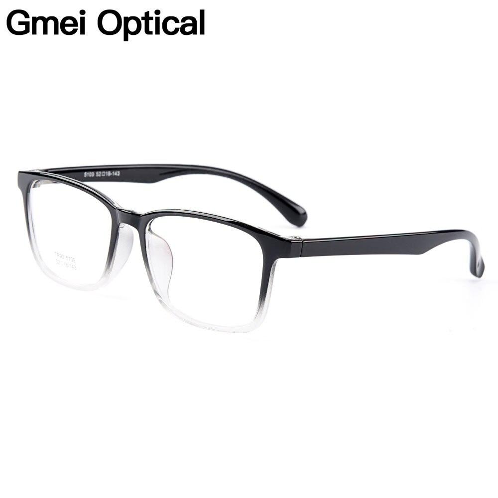 Gmei Optique Urltra-light TR90 Femmes Optique Lunettes Cadres En Plastique Optique Lunettes Cadre Pour Hommes Myopie Lunettes Oculos M5109