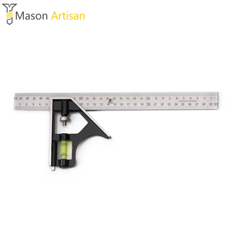 Multifunction Combination Square Decoration Woodworking Stainless steel Zinc alloy handle high accuracy wear clear Laser scale