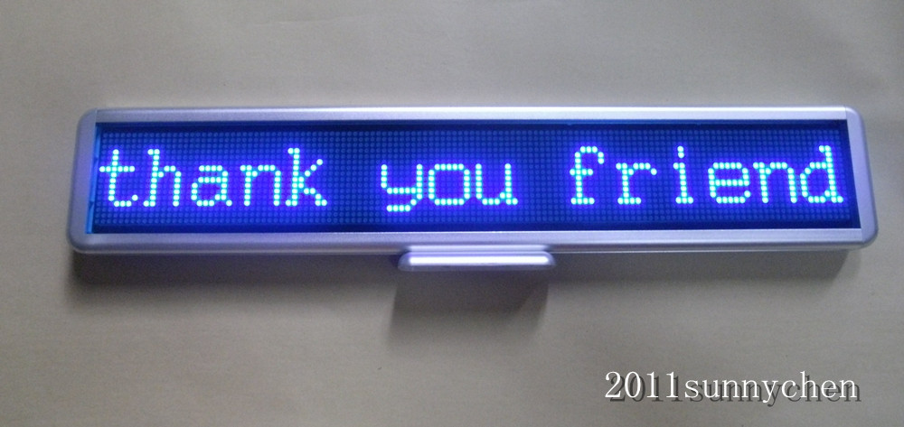 Free shipping Blue Programmable LED Moving Scrolling Message Display Sign Board 21