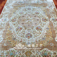 5.5'x8' Hand knotted Persian Silk Carpet Floral Design Area Carpet For Floor