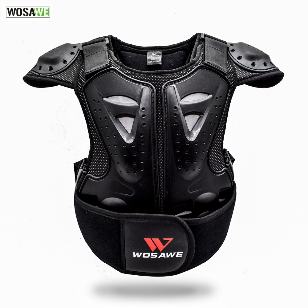 Wosawe Kids Dirt Bike Chest Protector Back Spine Support Kids Body