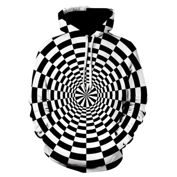 Men 3D Hoodies Stereoscopic Space Long Sleeve Hooded Striped Hip Hop Fashion Streetwear Plus Size
