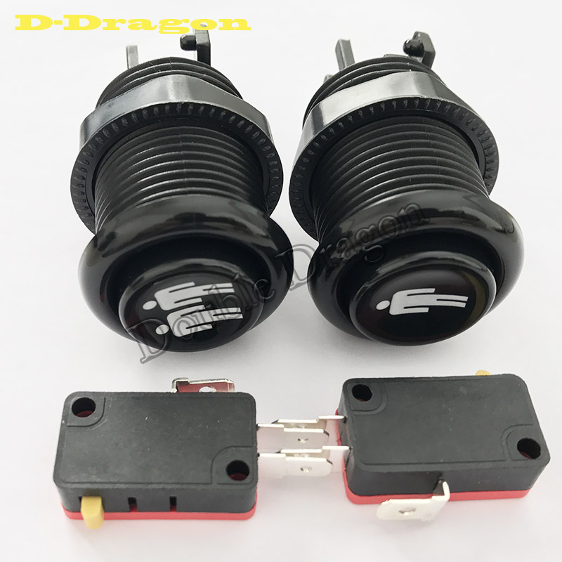 New Arcade Push Button Black Player Durable Multicade MAME Jamma Game Long Switch